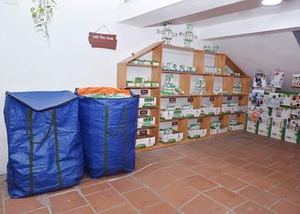 Cuộc thi Góc thu gom sạch đẹp khuyến khích các trường xử lý và sắp xếp vỏ hộp giấy ngăn nắp, gọn gàng để thuận tiện cho việc thu gom