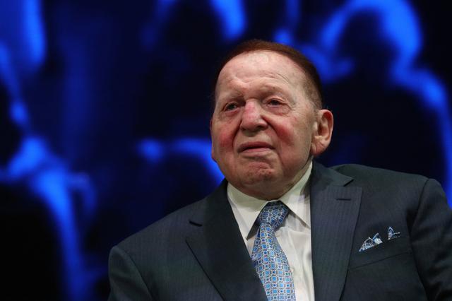 Tài phiệt casino Sheldon Adelson. Ảnh: Reuters