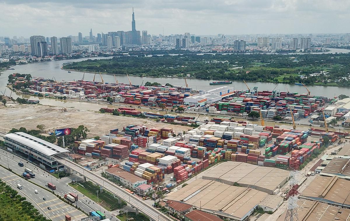 Khu cảng Trường Thọ (quận Thủ Đức), tháng 9/2020. Quỳnh Trần.