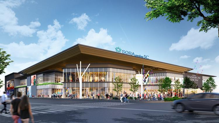 Trung tâm thương mại Sora Gardens SC có sức hút lớn với cư dân Bình Dương.