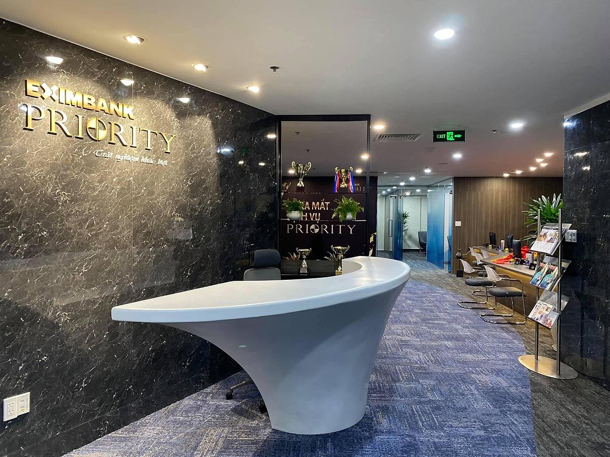 Lounge của dịch vụ Priority Banking tại Eximbank Hồ Chí Minh (số 4B Tôn Đức Thắng, quận 1). Ảnh: Eximbank.