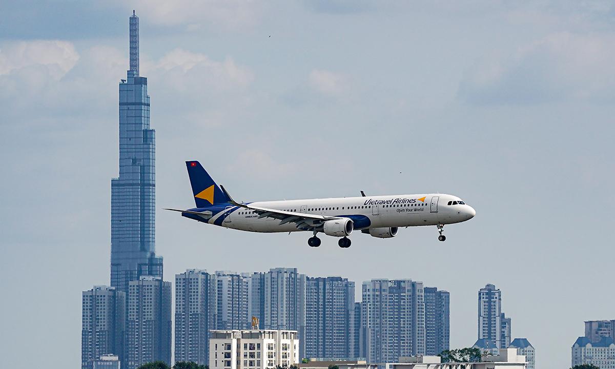 Máy bay CEO A321 của Vitravel Airlines.  Ảnh: VTU