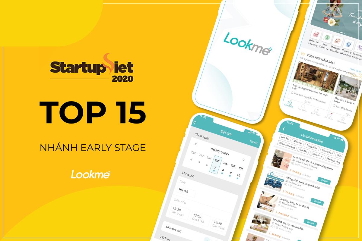 Tháng 12/2020, Lookme được vinh danh trong 15 Start-up Việt do báo VnExpress tổ chức và được xem là Uber của ngành dịch vụ làm đẹp.