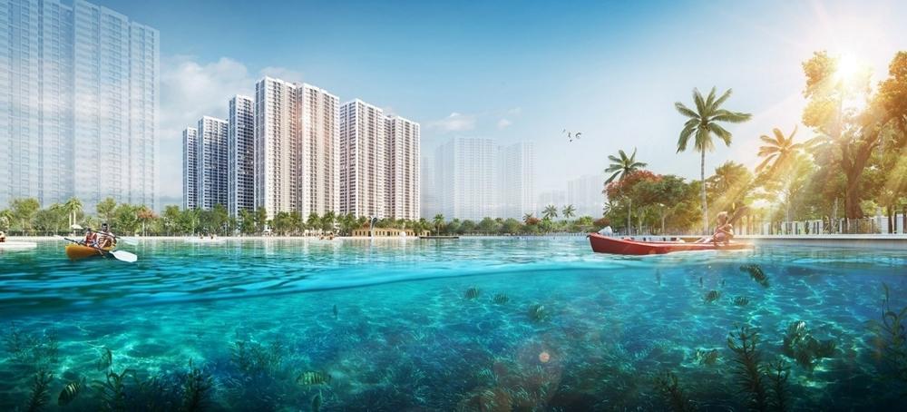 Dự án Imperia Smart City sở hữu vị trí đắc địa kế cận công viên hồ điều hòa.