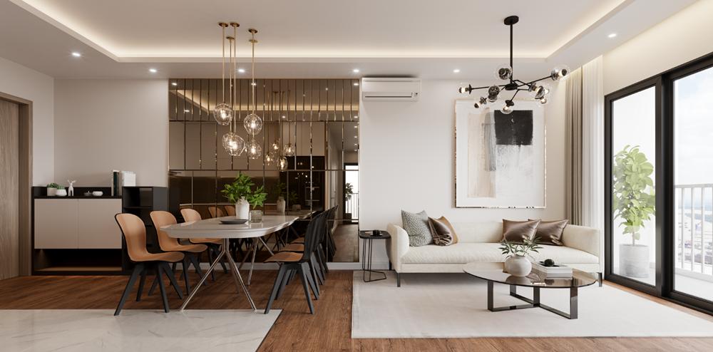 Không gian một căn hộ chung cư.