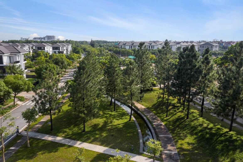 Dự án Hado Charm Villas với mật độ xây dựng chỉ 18,1%.