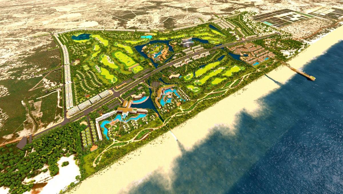 Phối cảnh dự án Khu phức hợp nghỉ dưỡng DIC Star Hotels & Resorts – Sân golf quốc tế  DIC Quảng Bình.