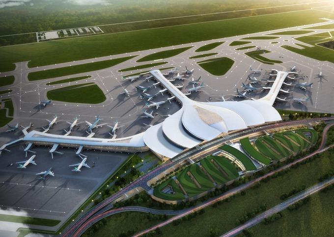 Mô hình thiết kế sân bay Long Thành. Ảnh: AVC.