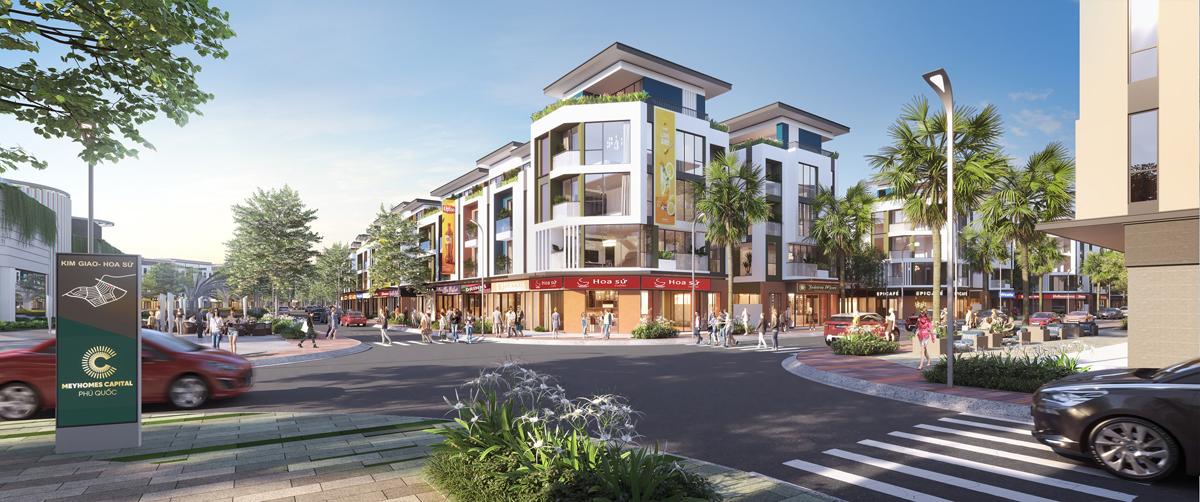Đô thị cao cấp Meyhomes Capital Phú Quốc tại trung tâm phường An Thới.