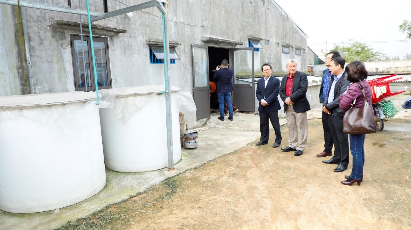 Đoàn Hiệp hội Nước mắm Việt Nam đến thăm và trao đổi với hai nhà thùng làm nước mắm Mười Quý và Lý Sơn Sa Kỳ (Quảng Ngãi). Ảnh: Hiệp hội Nước mắm Việt Nam.