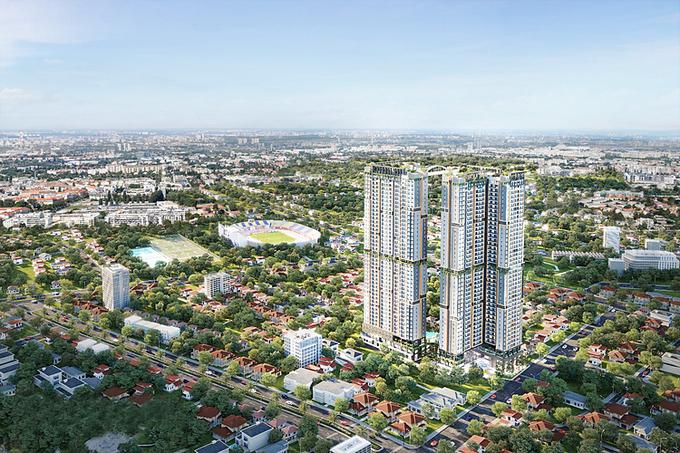 .Toàn cảnh dự án siêu căn hộ cao cấp Happy One - Central