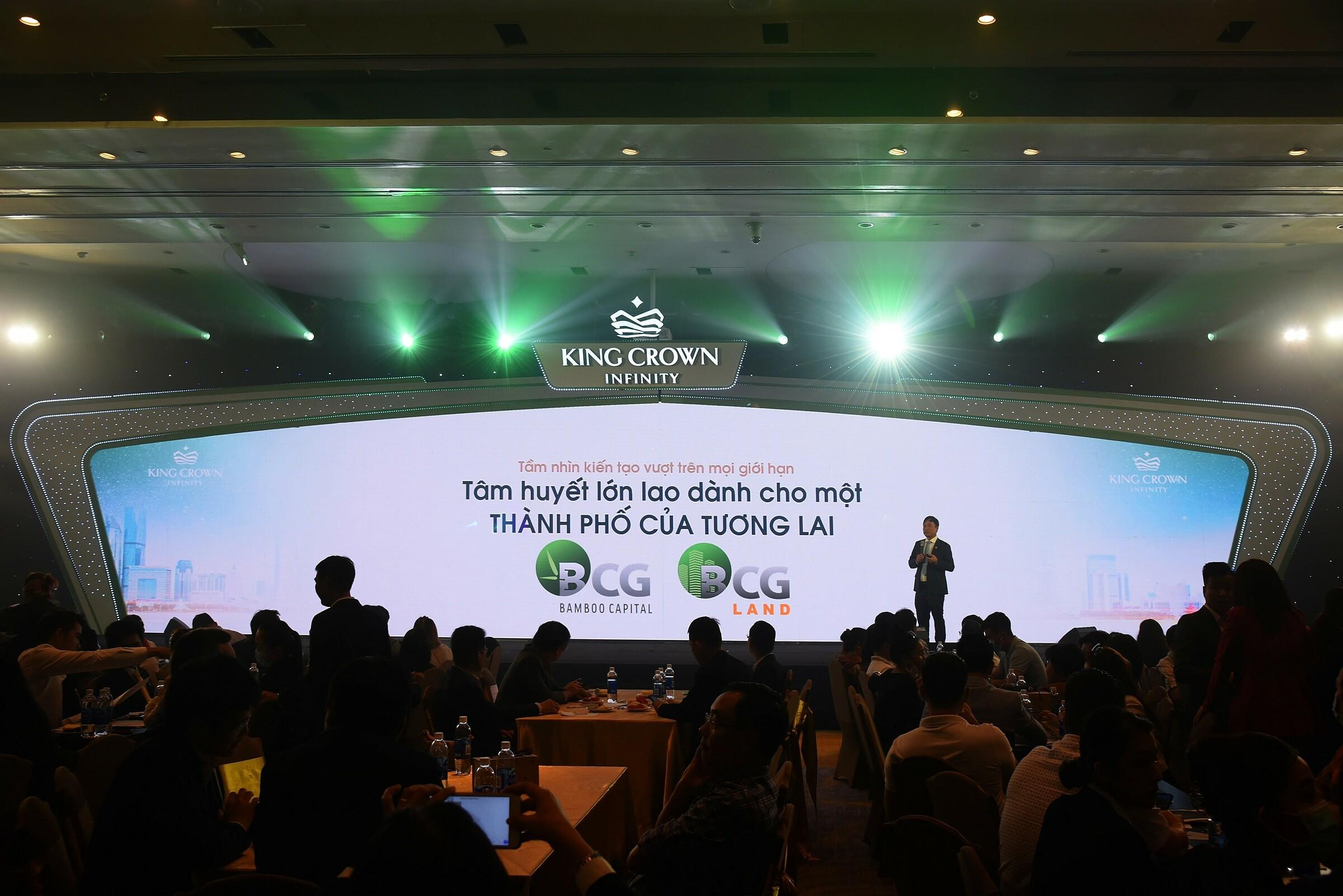 Sự kiện giới thiệu chính thức King Crown Infinity thu hút sự quan tâm lớn từ toàn thị trường. Ảnh: BCG Land.