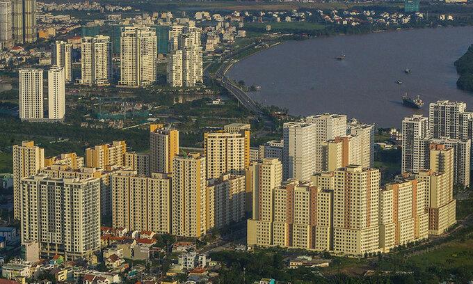 Thị trường nhà ở chung cư TP HCM. Ảnh: Quỳnh Trần.