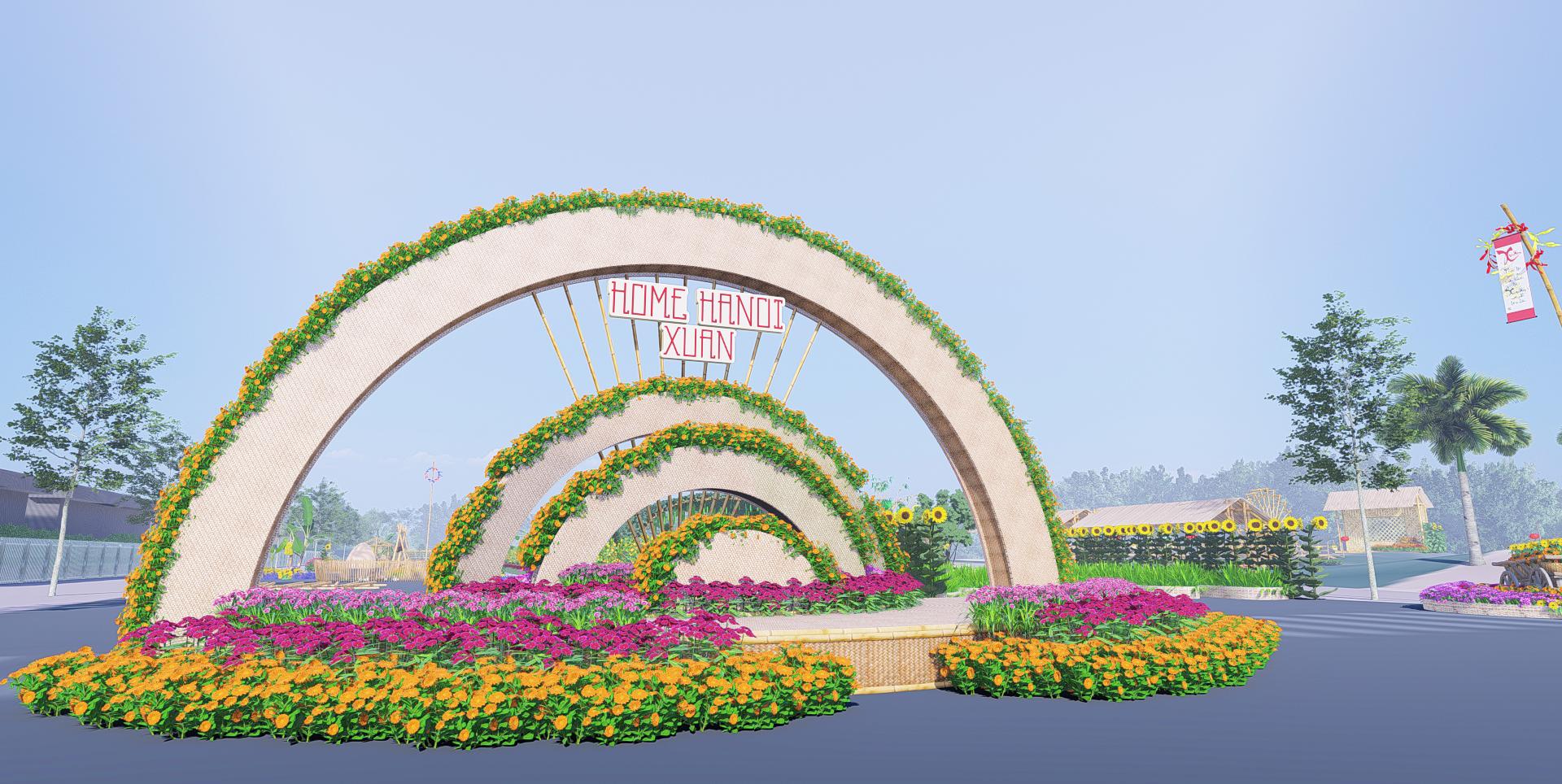 Trang chủ Phố hoa Tate Nhìn ra cổng chào Hà Nội Juan 2021.  Ảnh phối cảnh: A Khan JVC.