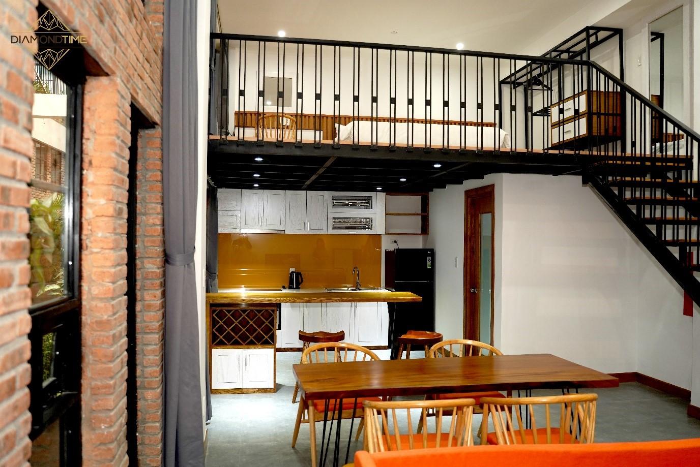Các căn hộ dịch vụ đều được đón ánh sáng và nguồn gió tự nhiên.