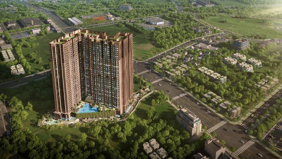 Sở hữu vị trí độc tôn tại trung tâm thành phố Thuận An, Opal Skyline có thể tận hưởng trọn vẹn các tiện ích nội và ngoại khu trong khu vực. Ảnh phối cảnh: Tập đoàn Đất Xanh.