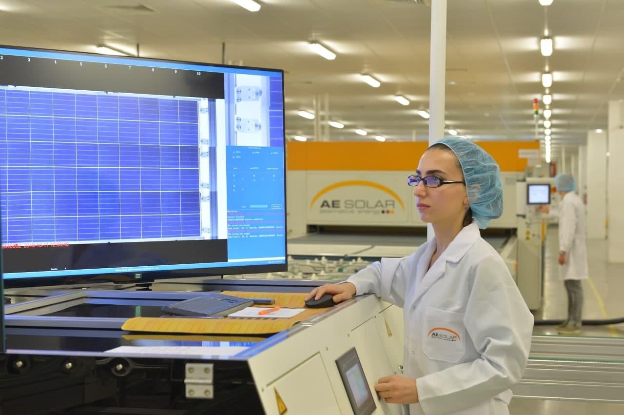 Nhà máy sản xuất môđun năng lượng mặt trời mới của AE Solar ở Kayseri, Thổ Nhĩ Kỳ. Ảnh: AE Solar.