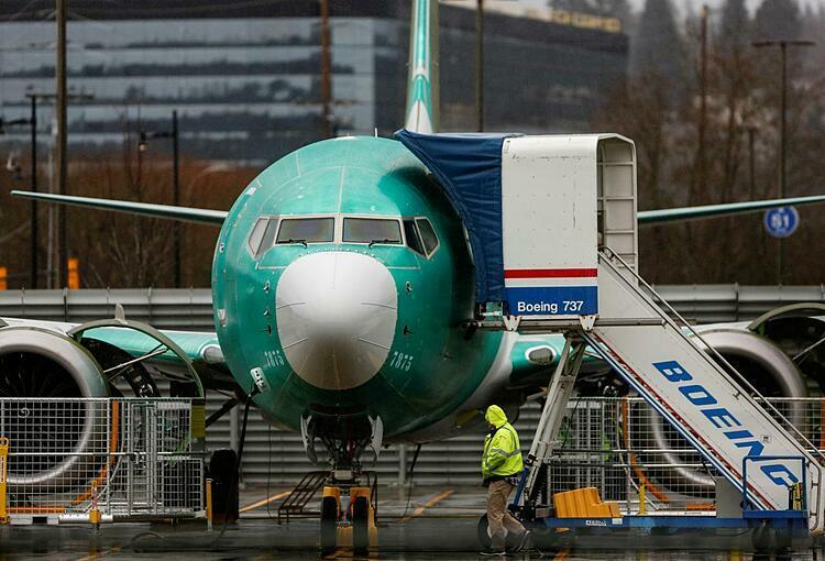 Một chiếc 737 Max tại sân bay Renton Municipal. Ảnh: Reuters
