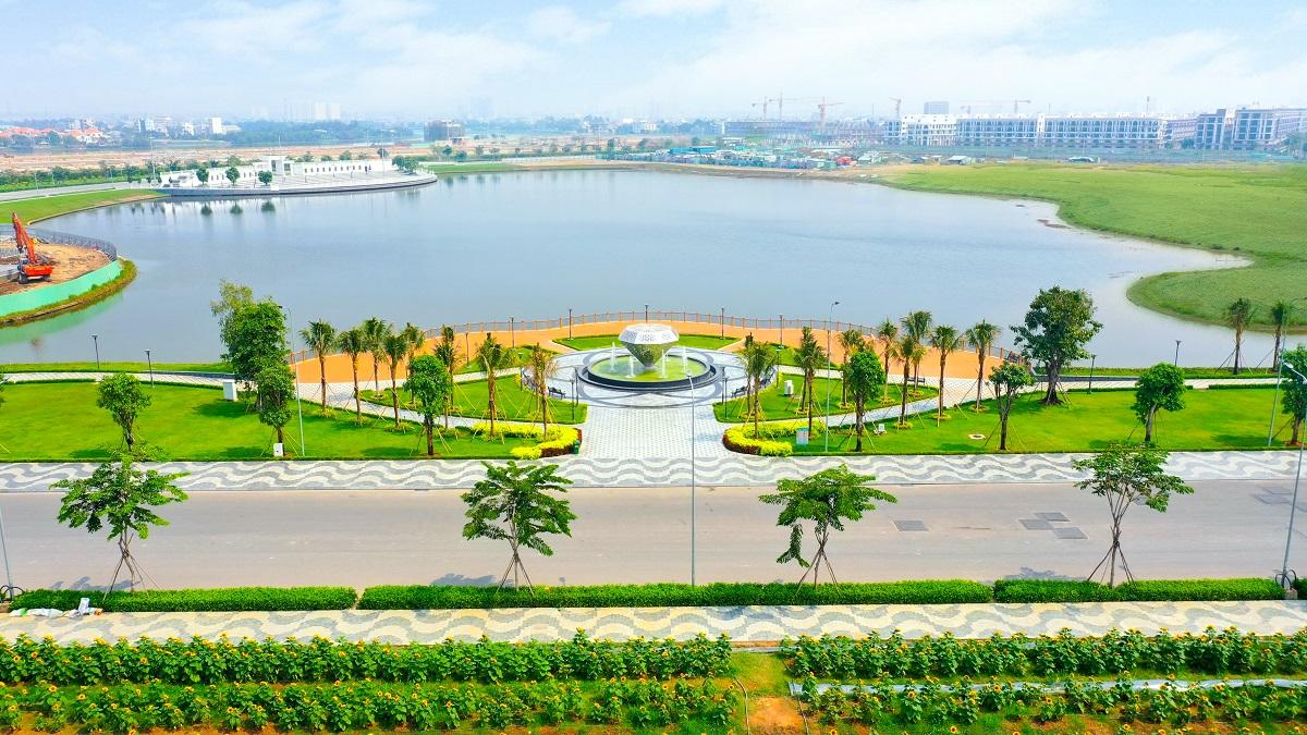 Công viên Diamond Park là trung tâm của dự án với hướng nhìn ra quảng trường Diamond. Ảnh: ĐP.