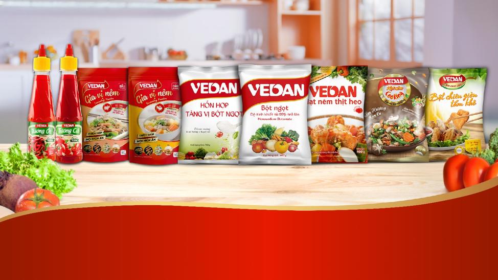 Các sản phẩm của Vedan.