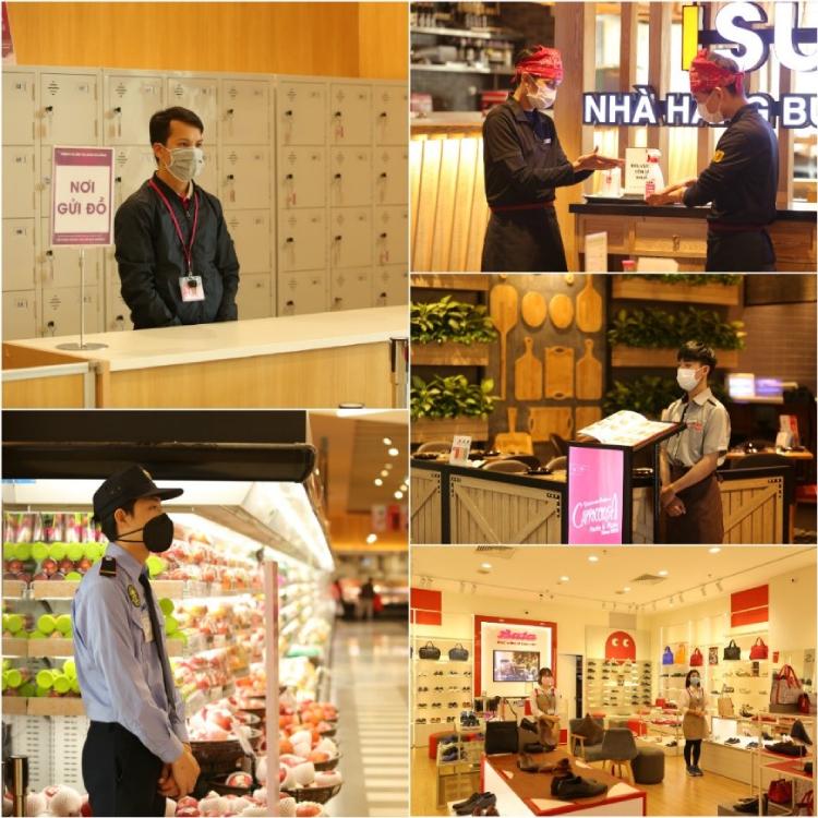 Aeon Mall Hà Đông áp dụng nguyên tắc 5K để đảm bảo an toàn cho khách hàng trong mùa Tết.