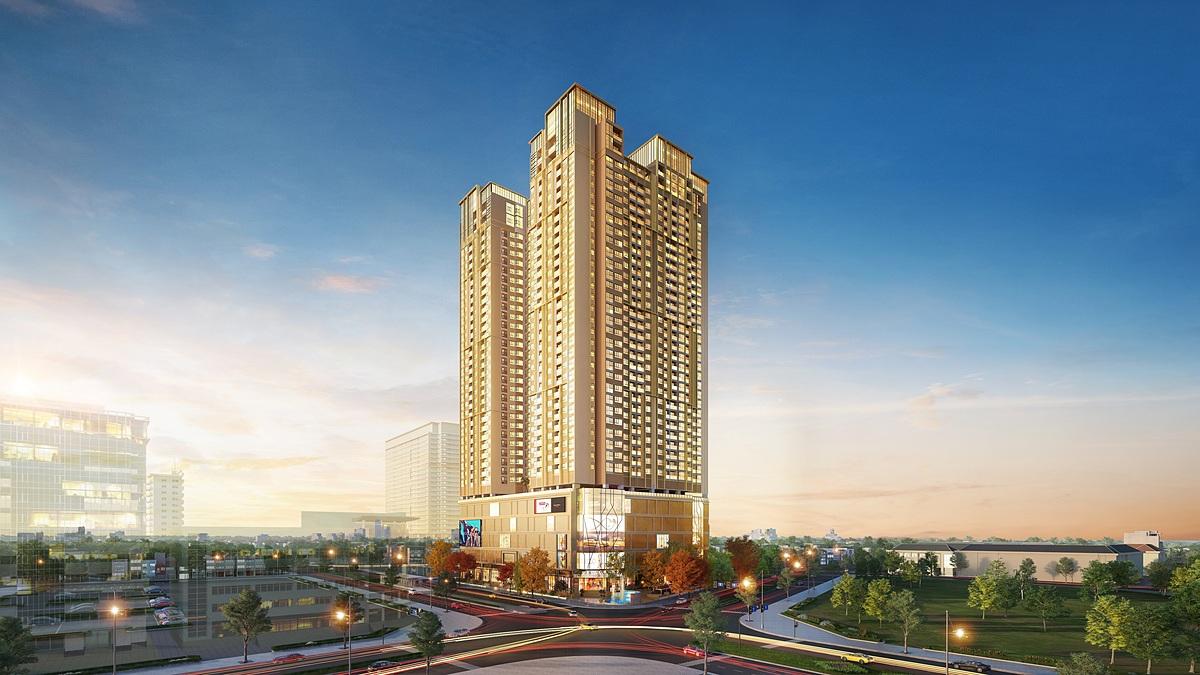 Khu Tây Hà Nội thu hút giới nhà giàu. Ảnh phối cảnh dự án BRG Diamond Residence.