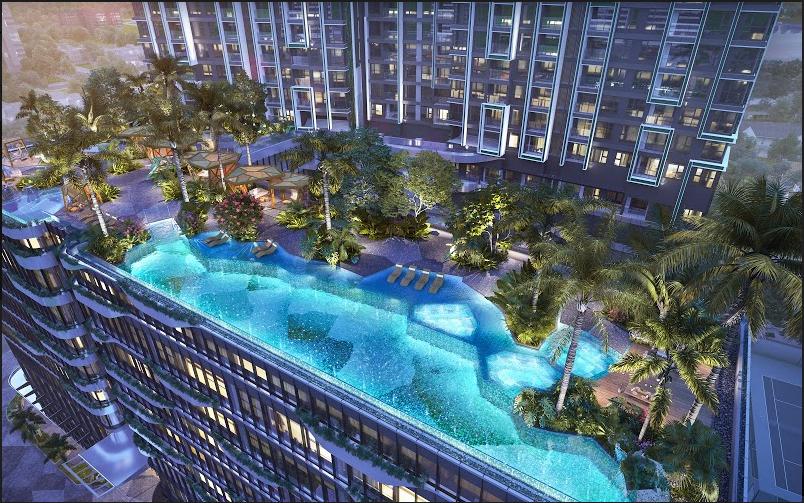 Dự án được kỳ vọng trở thành công trình biểu tượng cho sự hài hòa giữa lối sống xanh, gần gũi thiên nhiên và chuẩn mực sang trọng quốc tế. Ảnh phối cảnh: Masterise Homes.