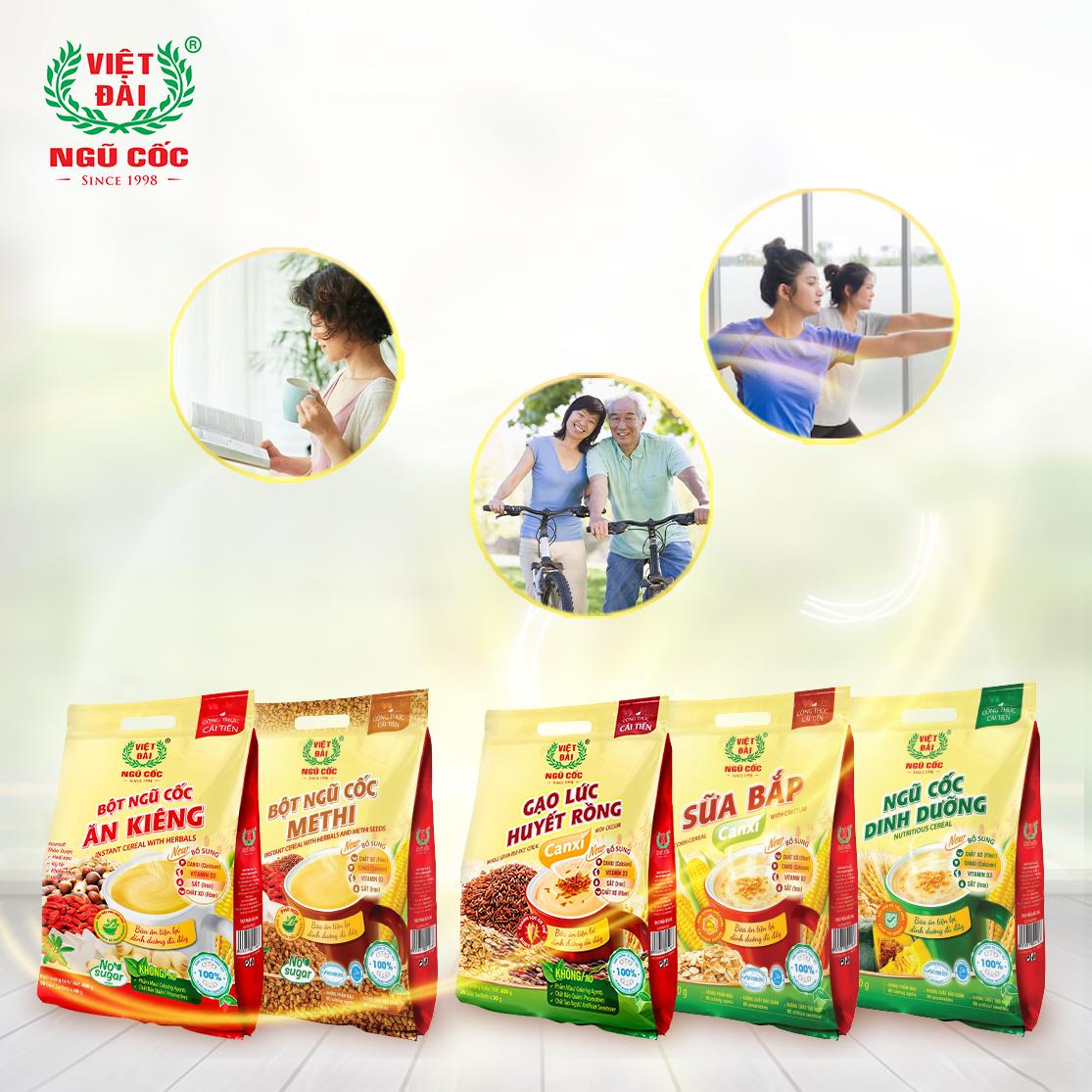 Ngũ cốc Việt Đài hỗ trợ cung cấp nguồn vi chất cần thiết cho cơ thể.