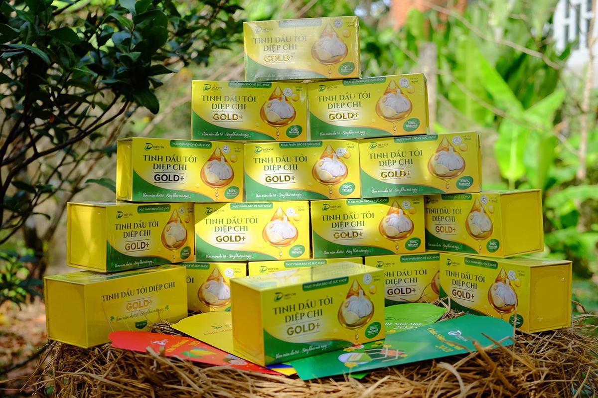 Tinh dầu tỏi Diệp Chi Gold+ góp phần tăng đề kháng, hỗ trợ giảm các triệu chứng cảm do nhiễm lạnh. Ảnh: Diệp Chi Organic.