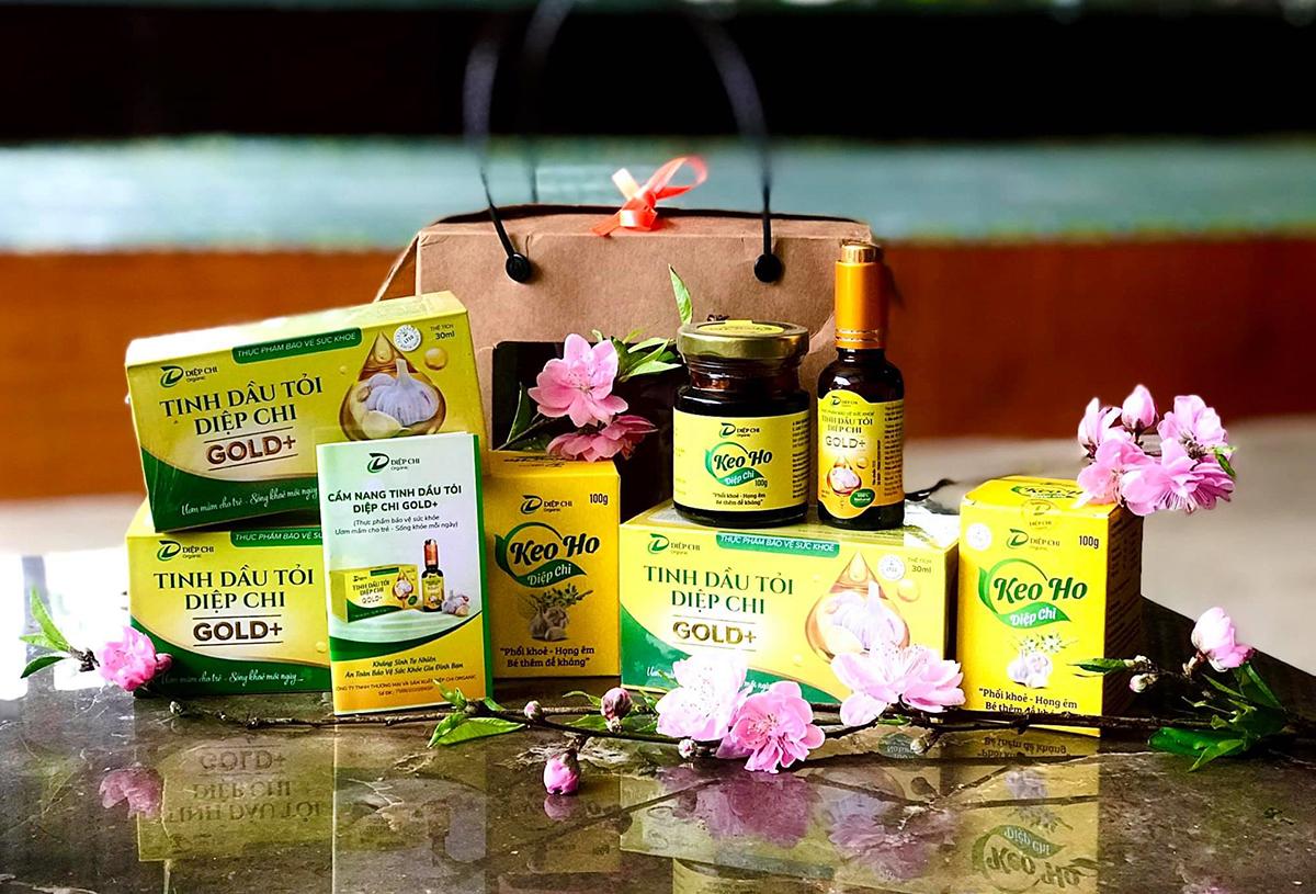 Bộ đôi keo ho, dầu tỏi Diệp Chi là sản phẩm được các gia đình có con nhỏ lựa chọn. Ảnh: Diệp Chi Organic.