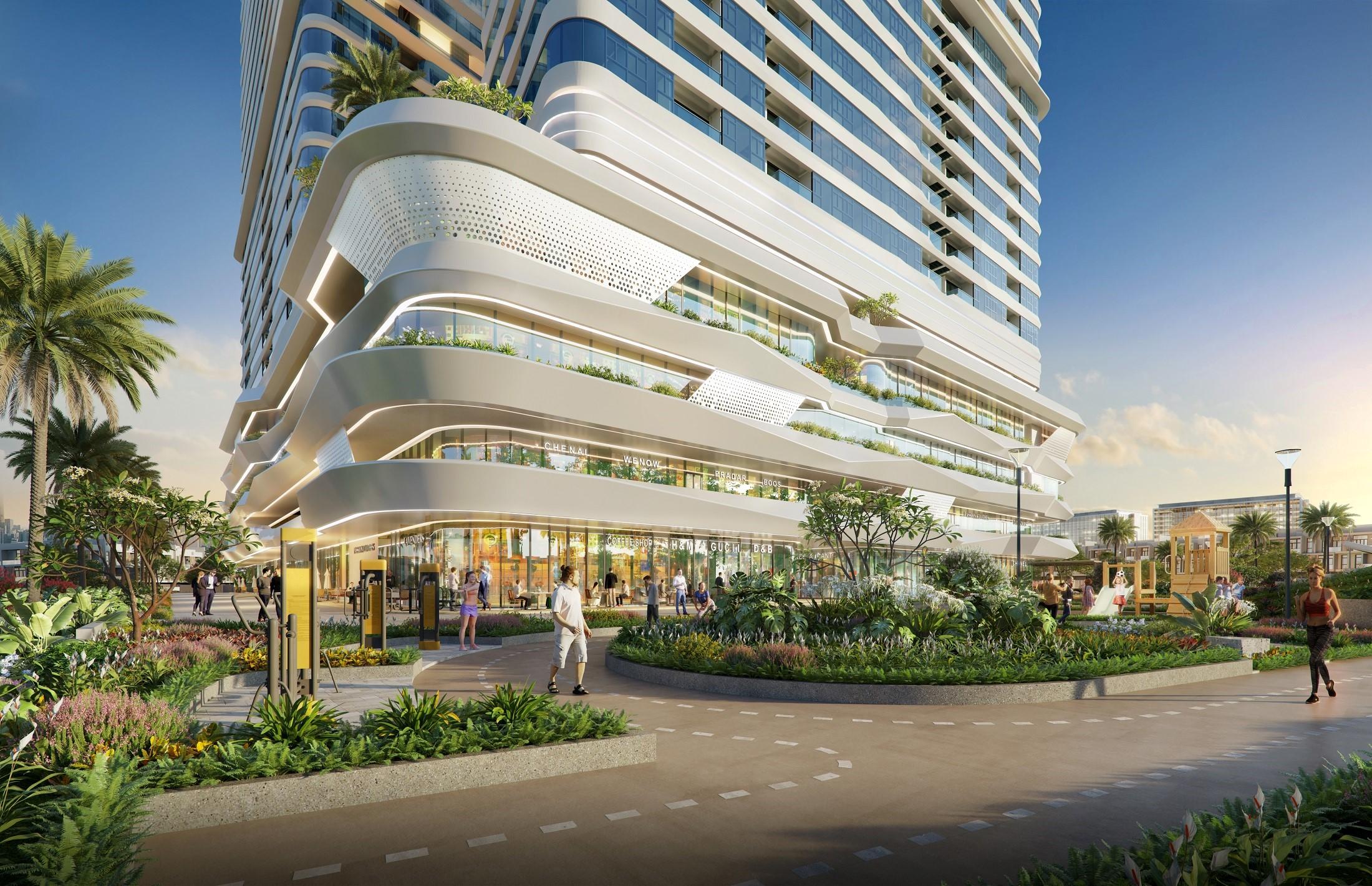 Mật độ căn hộ vừa phải giúp King Crown Infinity hứa hẹn kiến tạo cộng đồng cư dân tinh hoa. Ảnh phối cảnh: BCG Land.