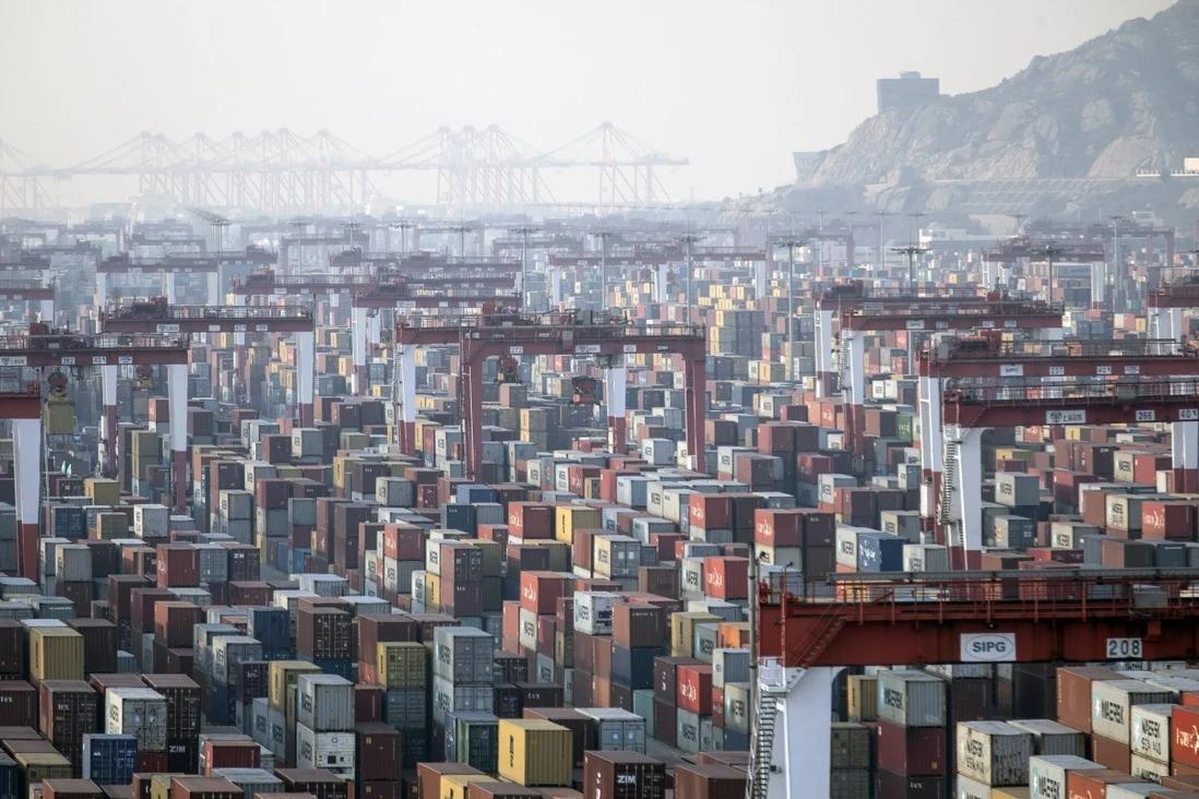 Cảng nước sâu Dương Sơn tại Thượng Hải, Trung Quốc vào ngày 11/1. Ảnh: Bloomberg.