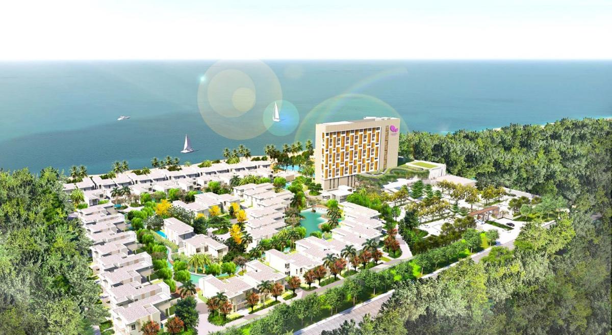 Phối cảnh dự án Angsana & Dhawa Hồ Tràm.