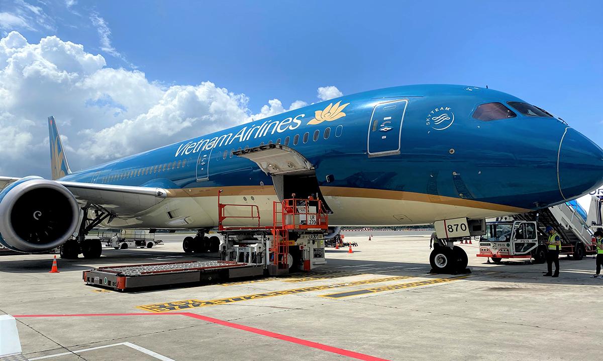 Một tàu bay thân rộng của Vietnam Airlines. Ảnh: VNA