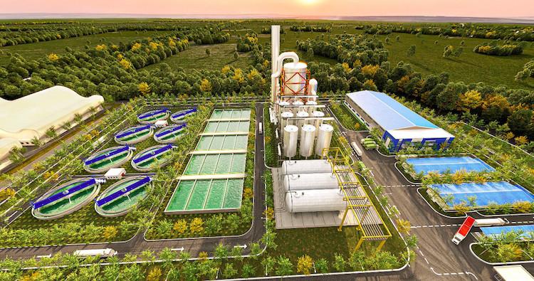 Hình phối cảnh nhà máy xử lý nước thải tại KCN Minh Hưng Sikico. Nguồn: Minh Hưng Sikico.