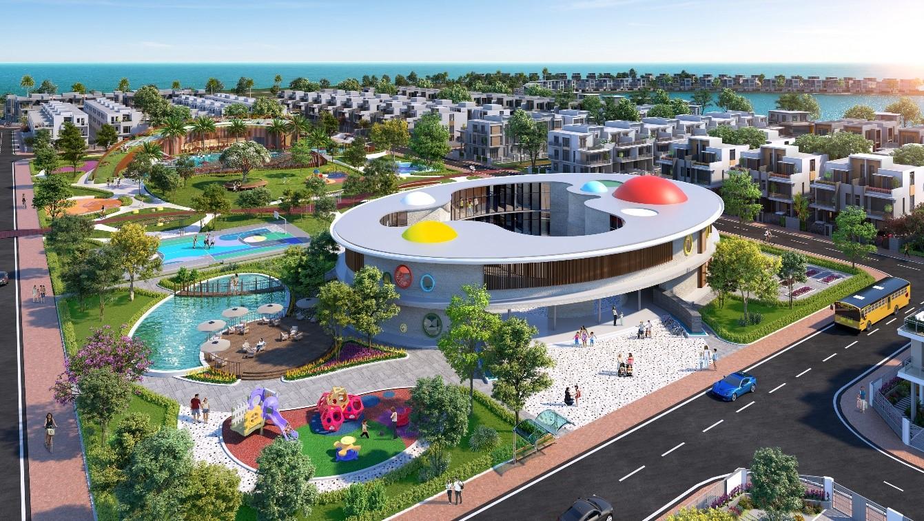 Quy hoạch đô thị đảo Phượng Hoàng chú trọng đến các tiện ích mang đến trải nghiệm  sống như nghỉ dưỡng cho cư dân. Ảnh phối cảnh: Novaland.