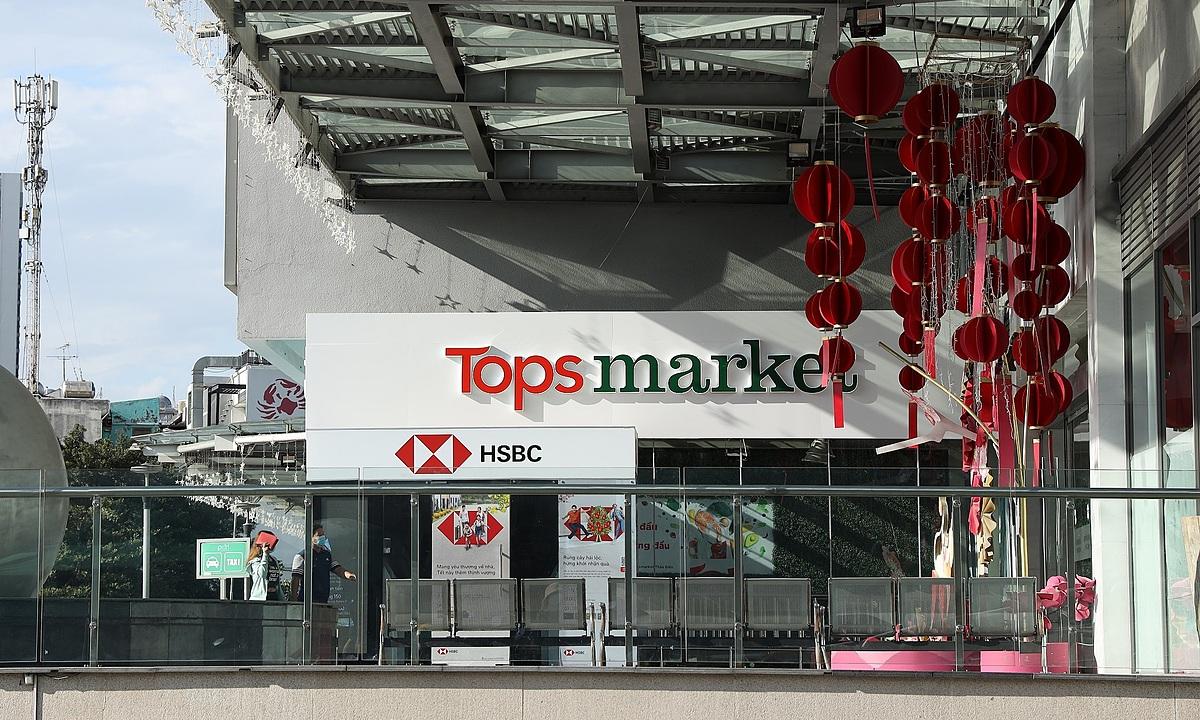 Lối vào Big C Thảo Điền (quận 2, TP HCM) đã đổi tên thành Tops Market. Ảnh: Central Retai.