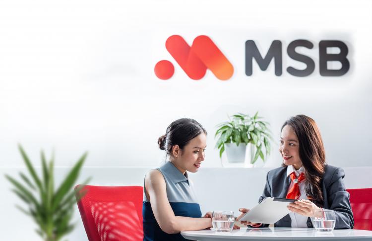 Nhân viên MSB tư vấn giải pháp tài chính cho khách hàng. Ảnh: Nhờ team bổ sung nguồn ảnh. Ảnh: MSB