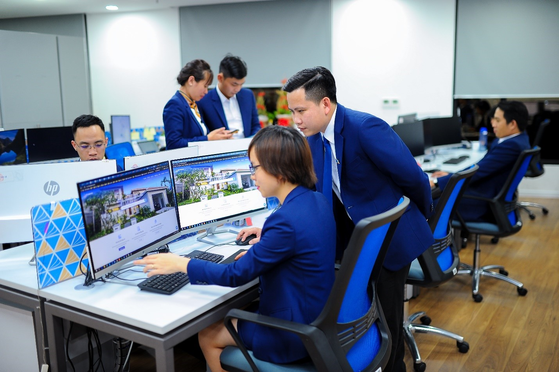Đất Xanh Services ứng dụng nền tảng Real Agent trong kinh doanh bất động sản. Ảnh: Đất Xanh Services.
