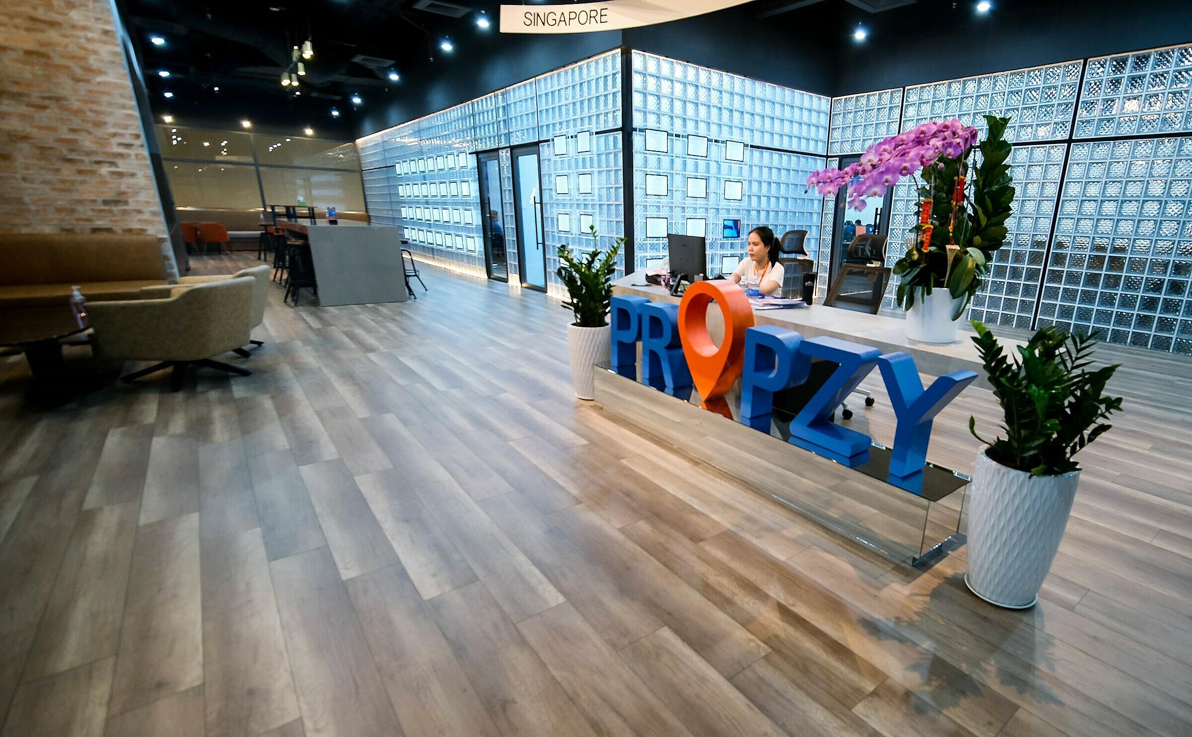 Văn phòng Propzy Hub có thiết kế mở.