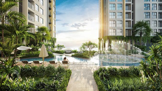 View nội khu tại Happy One - Central luôn được nâng cấp mang đến giá trị toàn diện