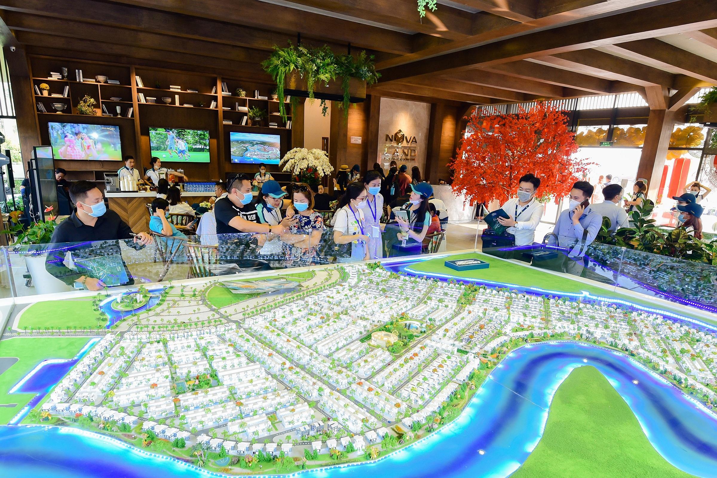 Đô thị đảo Phượng Hoàng thuộc dự án Aqua City của Tập đoàn Novaland hút khách bởi nhiều lợi thế hiếm có. Ảnh: Novaland.