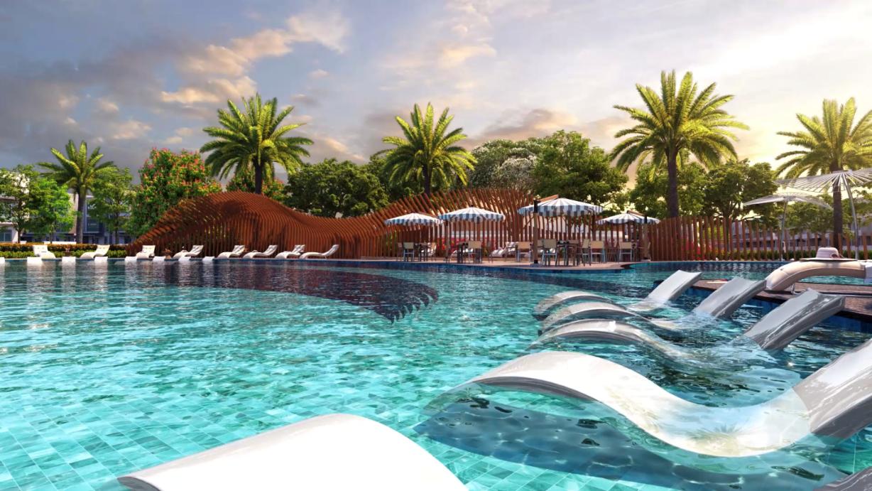 Quy hoạch thông minh cho phép cư dân đảo Phượng Hoàng dễ dàng tiếp cận chuỗi tiện ích nội khu đẳng cấp từ giáo dục, thể thao, vui chơi giải trí đến cảnh quan sông nước hiếm có. Ảnh phối cảnh: Novaland.