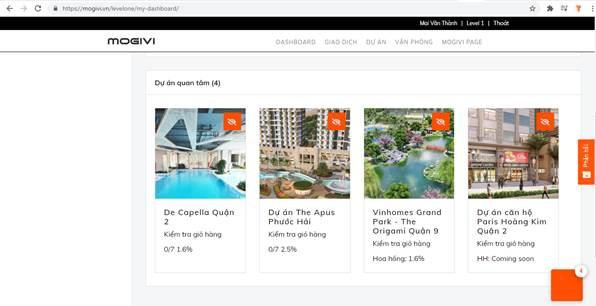 Giao diện web đơn giản giúp môi giới quản lý giỏ hàng dễ dàng.