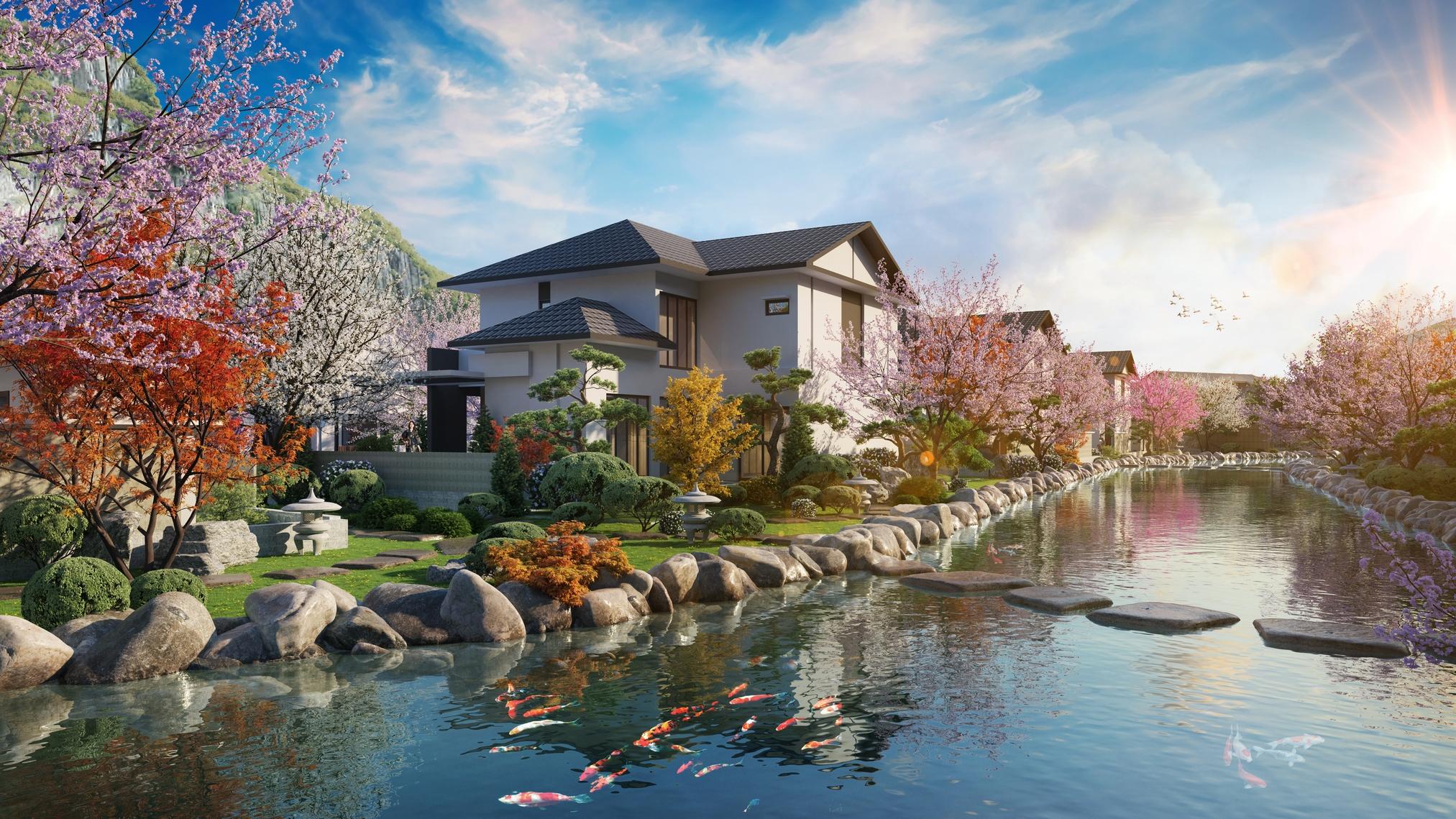 Yoko Villas là dòng bất động sản nghỉ dưỡng hạng sang kết hợp chăm sóc sức khỏe. Ảnh: Sun Group.