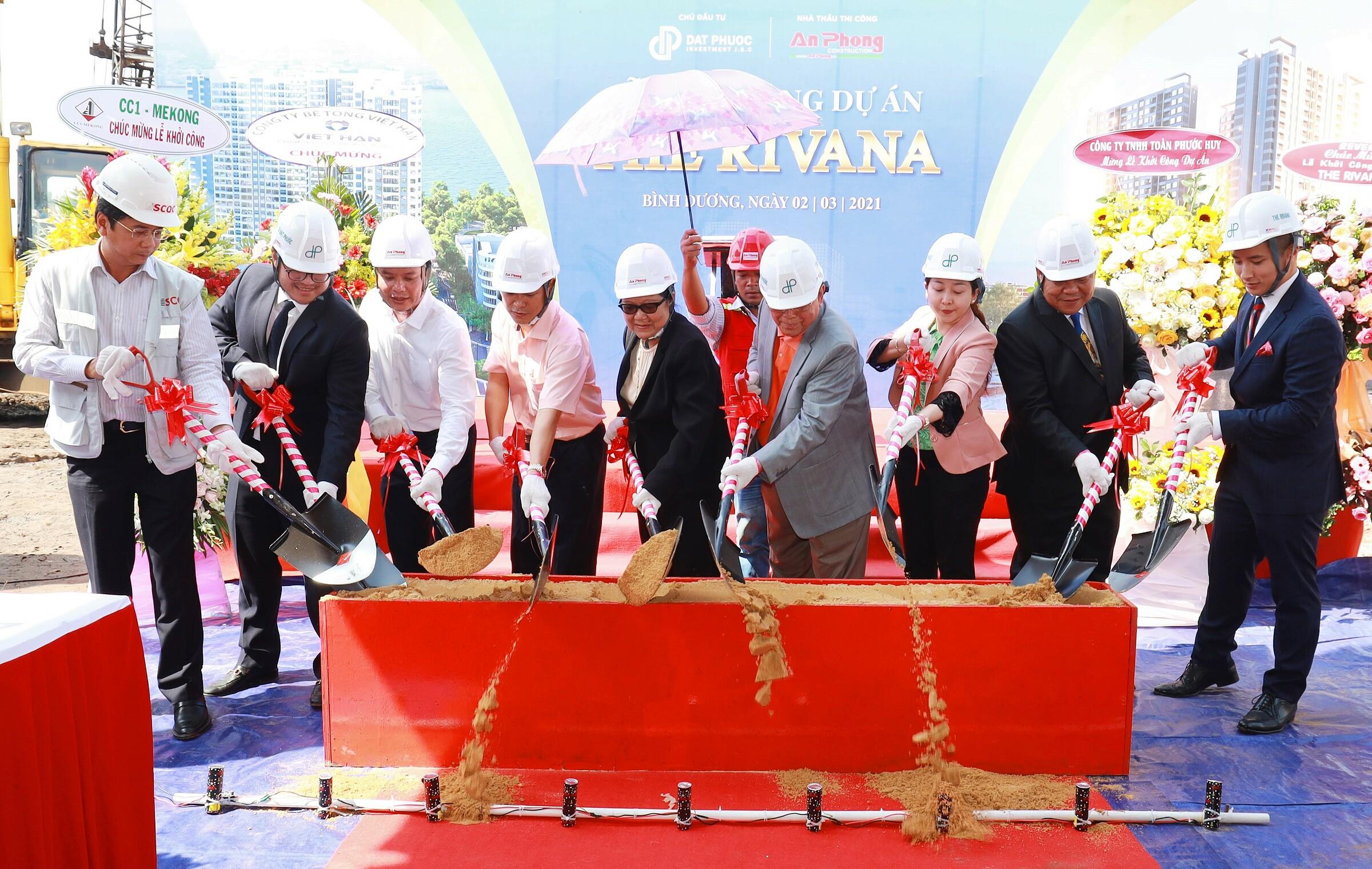 Lễ khởi công xây dựng dự án The Rivana diễn ra vào ngày 13/3. Ảnh: Đạt Phước.