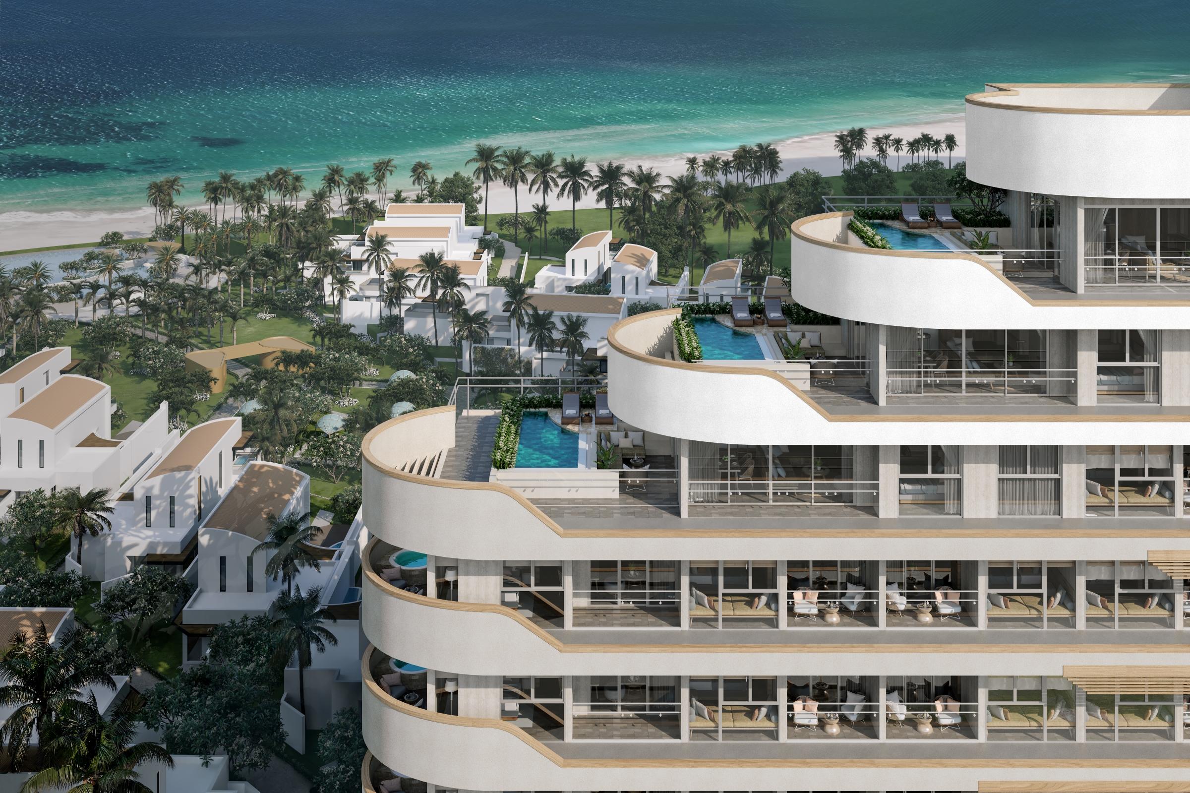 Ixora Ho Tram by Fusion hứa hẹn thành điểm đến nghỉ dưỡng miền nhiệt đới hấp dẫn. Ảnh phối cảnh: Ldogis Hospitality.