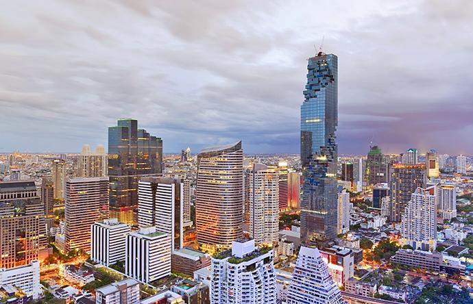 Khu phức hợp mixed-use MahaNakhon, Thái Lan. Ảnh: Shutterstock.