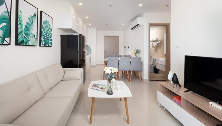 Căn hộ cho thuê 3 phòng ngủ đầy đủ nội thất tại Vinhomes Smart City.