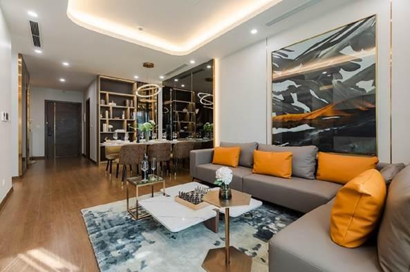 Thiết kế phòng khách tại dự án The Matrix One.